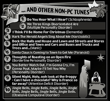 Christmas Carols for the Mentally Disturbed
